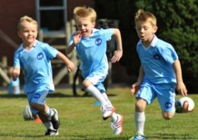 Kids Football Running