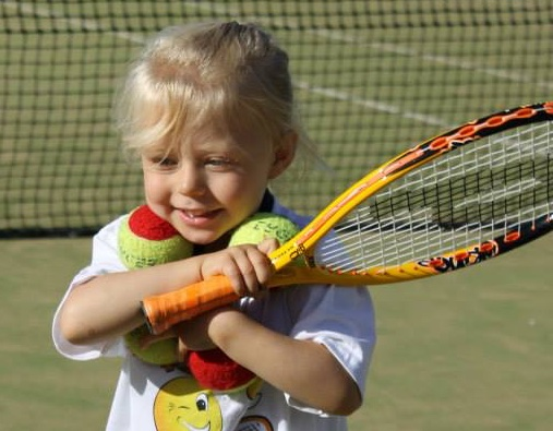 Kids Tennis Racquet Balls Smile
