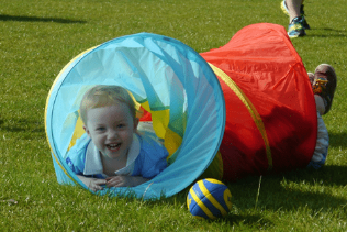 Toddler Rugby Classes Tunnel