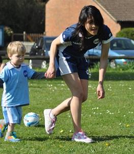 Toddler Football Coaching